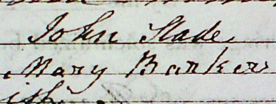 signatures from parish register marriage entry